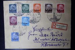 Elsass Alsace :  Strassbourg  Einschreiben Cover   1941 - Besetzungen 1938-45