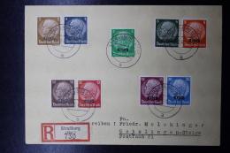 Elsass Alsace :  Einschreiben Cover  Strassbourg  Sep 1940 - Besetzungen 1938-45