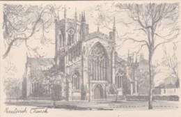 NANTWICH CHURCH. PENCIL SKETCH - England