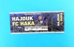 HAJDUK V FC HAKA Valkeakoski - 2003 UEFA CUP Qual. Football Match Ticket Soccer Billet Fussball Calcio Biglietto Finland - Match Tickets
