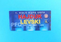 HAJDUK V PFC LEVSKI Sofia - 1999. UEFA CUP Football Match Ticket Soccer Billet Fussball Calcio Biglietto Foot Bulgaria - Match Tickets