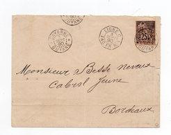 !!! PRIX FIXE : GUYANE, LETTRE DE CAYENNE DE 1890 POUR BORDEAUX - Guyane Française (1886-1949)