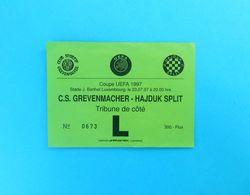 CS GREVENMACHER V HAJDUK - 1997. UEFA CUP Qual. Football Match Ticket Billet Foot Soccer Fussball Calcio Luxembourg - Match Tickets