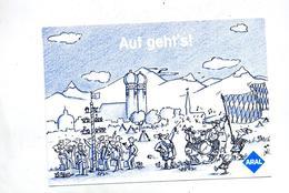 Carte Publicite Aral Essence C'est Parti Fete Musique Flamme Munich Biere - [7] République Fédérale