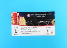 HNK HAJDUK V FC ZENIT St. Petersburg - 2010 UEFA EUROPA LEAGUE Qual. Football Match Ticket Soccer Billet Fussball Russia - Match Tickets