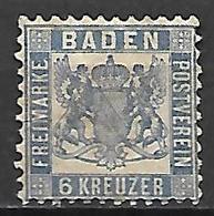 BADE   -   1862  .  Y&T N° 14 (*). - Baden