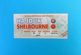 HAJDUK V SHELBOURNE FC Dublin - 2004. UEFA CHAMPIONS LEAGUE Qual. Football Match Ticket Billet Soccer Fussball Ireland - Match Tickets