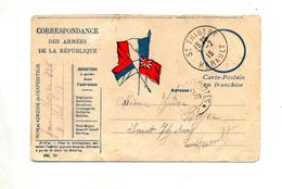 Carte Franchise Militaire Cachet Tresor Et Postes + Thibery - Postmark Collection (Covers)