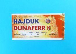 HAJDUK V DUNAFERR SE ( Dunaujvaros FC ) - 2000. UEFA CHAMPIONS LEAGUE Qual. Football Match Ticket Billet Soccer Hungary - Match Tickets