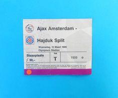 AFC AJAX VHAJDUK - 1995. UEFA CHAMPIONS LEAGUE Football Match Ticket Billet Soccer Billet Fussball Holland Netherland - Match Tickets