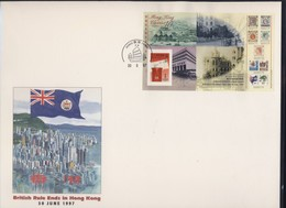 HONG-KONG 1997 RATTACHEMENT A LA CHINE  FDC  YVERT N°B55 FORMAT A4 - 1997-... Région Administrative Chinoise