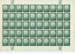 ONU 1957 FEUILLES COMPLETES  YVERT N°52/53 NEUF MNH** - New York -  VN Hauptquartier