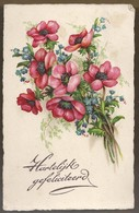 NL.- Hartelijk Gefeliciteerd. Bloemen 1932. - Verjaardag