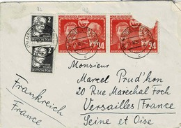 TP N° 37 Des Emissions Générales Et N° 49 ( Y&T ) Sur Enveloppe De Meuselwitz Pour Versailles - [6] République Démocratique