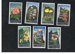 SAN MARINO - UNIF. 732.738  - 1967  FIORI (FLOWERS): SERIE COMPLETA DI 7   - MINT** - San Marino