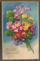 NL.- Hartelijk Gefeliciteerd. Bloemen 1934. Amag 4093 - Verjaardag