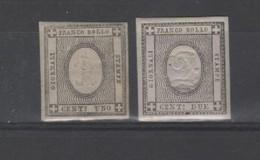 Italie- Sardaigne   Duché _ Chiffre En Relief _   N°16/17 (1861) - Sardaigne