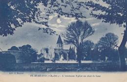 MARANS: L'ancienne Eglise Au Clair De Lune - France