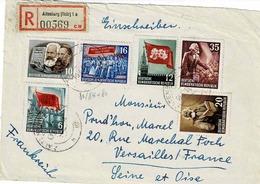 TP N° 81/84 Et 86 ( Y&T ) Sur Devant D'enveloppe De Altenburg Pour Versailles - [6] République Démocratique