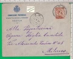 Busta Affrancata Con Cent 20. Aquila. - 1861-78 Vittorio Emanuele II