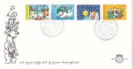 Nederland- FDC - KInderzegels - Os En Ezel/sneeuwman/sterren/driekoningen - NVPH E213 - Andere
