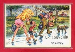 """68-CARTE HUMOURISTIQUE DE """" ORBEY """" - Altri"""
