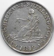Grande Bretagne - 1 Schilling Liverpool 1812 - Argent - TTB - 1816-1901 : Frappes XIX° S.