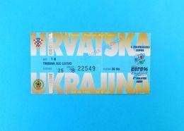 CROATIA V UKRAINE - 1995. UEFA EURO Qual. Football Match Ticket * Soccer Fussball Calcio Billet Foot Biglietto Ukraina - Match Tickets