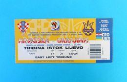CROATIA V UKRAINE - 2009. FIFA WORLD CUP Qual. Football Match Ticket * Soccer Fussball Calcio Billet Foot Ukraina - Match Tickets