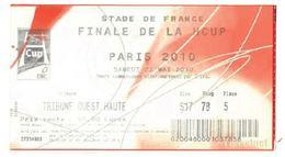 Ticket Entrée Rugby Finale HCUP Toulouse Biarritz Stade De France 22/05/2010 - Rugby