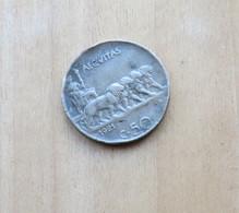 50 CENTESIMI LEONI DEL 1921 LISCIO - REGNO VITT. EMANUELE III° - - 1861-1946 : Reino