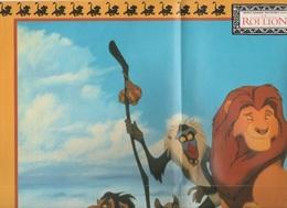 AFFICHE / POSTER LE ROI LION - WALT DISNEY HOME VIDEO - WINNIE LE MAGAZINE QUI FAIT MARCHER LA TETE ET LES DOIGTS - Posters