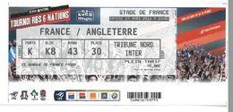 Ticket Entrée Rugby Tournoi Des 6 Nations France / Angleterre Stade De France 19/03/2016 - Rugby