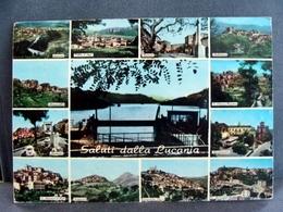 (FG.I24) Saluti Dalla LUCANIA - VEDUTE (MOLITERNO,VIGGIANO,MONTEMUZZO,SARCONI,MISSANELLO,ARMENTO,SPINOSO...) 1974 - Potenza