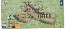 Ticket Entrée Rugby Tournoi Des 6 Nations France / Ecosse Stade De France 17/03/2007 - Rugby