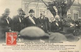 TROYES EN CHAMPAGNE MANIFESTATION DES VIGNERONS CHAMPENOIS DE L'AUBE MAIRE DE TROYES AVANT LA DISLOCATION 10 - Troyes