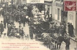 BAR-SUR-SEINE FETE DU CHAMPAGNE CHAR DE LANDREVILLE ATTELAGE CHEVAUX 10 - Bar-sur-Seine