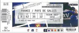 Ticket Entrée Rugby Tournoi Des 6 Nations France / Pays De Galles Stade De France 28/02/2015 - Rugby