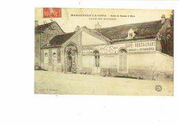 Reproduction 21 MARSANNAY La COTE Route De Beaune à Dijon CAFé DU ROCHER Dessin Vélo Rendez-vous Cyclistes Au Vin Rosé - Other Municipalities