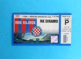 HAJDUK V DINAMO - 2009.T-Com Croatia Premier League Football Match Ticket Soccer Fussball Billet Calcio Kroatien Croazia - Match Tickets