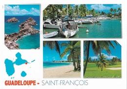 CARTES  GÉOGRAPHIQUES LA GUADELOUPE - SAINT-FRANÇOIS - 4 PETITES VUES - CPM - VIERGE - - Mapas