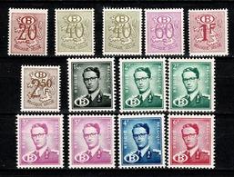 België/Belgique  1952/54 -  13 Dienstzegels/timbres De Service** MNH - Service