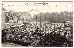 AUTUN (71) - Vue Générale De La Place De Champ-de-Mars Le Jour De La Foire Du 1er Septembre - Autun