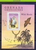 Mwe2658 FAUNA ROOFVOGELS UIL BIRDS OF PREY BARN OWL GREIFVÖGEL EULE AVES HIBOUX OISEAUX GRENADA GRENADINES 1980 PF/MNH - Uilen
