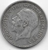 Grande Bretagne - 1 Schilling 1936 - Argent - TTB - 1902-1971 : Monnaies Post-Victoriennes
