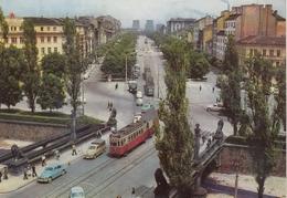 Sofia - Boulevard G.Dimitrov , Tram Strassenbahn - Bulgaria