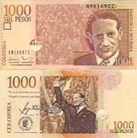 Colombia  P-456  1000 Pesos  2015  UNC - Colombie