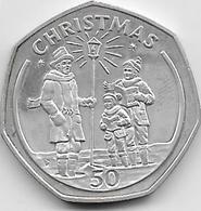 Gibraltar - 50 Pence - Argent - SUP - Gibraltar