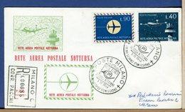 ITALIA - FDC 1965 - RETE AEREA POSTALE NOTTURNA  -  Raccomandate Con Timbro Arrivo - F.D.C.
