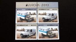 Aserbaidschan 973/4 DD **/mnh, EUROPA/CEPT 2013, Postfahrzeuge - Azerbeidzjan
